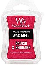 Düfte, Parfümerie und Kosmetik Tart-Duftwachs Radish & Rhubarb - WoodWick Mini Wax Melt Radish & Rhubarb Smart Wax System