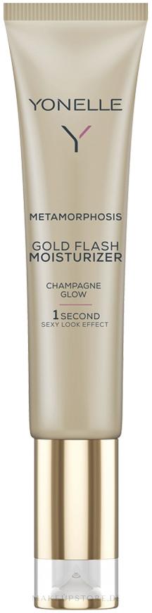 Feuchtigkeitsspendendes Gesichtsgel mit Goldpartikeln - Yonelle Metamorphosis Gold Flash Moisturizer Champagne Glow — Bild 25 ml