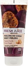 Düfte, Parfümerie und Kosmetik Feuchtigkeitsspendendes Körperpeeling mit Passionsfrucht und braunem Zucker - Fresh Juice Passion Fruit & Brown Sugar