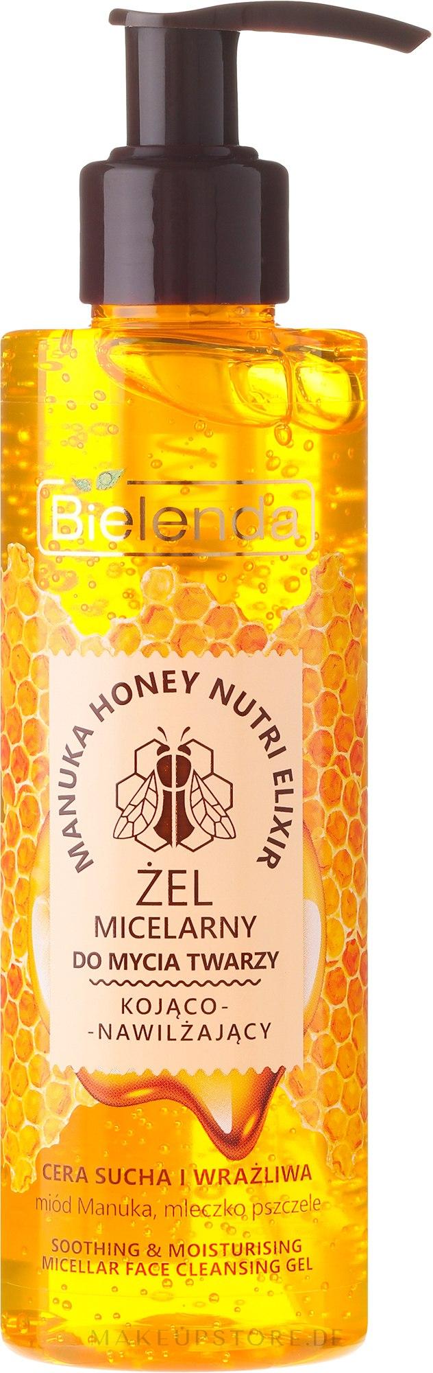 Beruhigendes Mizellen-Gesichtswaschgel mit Manuka-Honig und Gelée Royale - Bielenda Manuka Honey Gel Micelar — Bild 200 g