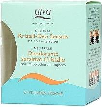Düfte, Parfümerie und Kosmetik Kristall-Deo für empfindliche Haut mit Korkuntersetzer - Alva Kristall-Deo Spray Sensitive