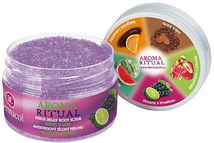 """Körper Scrub """"Trauben & Limette"""" - Dermacol Aroma Ritual Body Scrub Grape&Lime — Bild N1"""