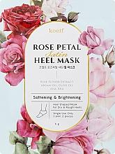 Düfte, Parfümerie und Kosmetik Aufweichende und aufhellende Maske für die Fersen mit Rosenblütenextrakt - Petitfee&Koelf Rose Petal Satin Heel Mask