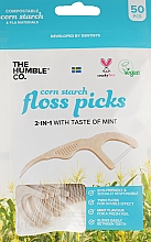 Düfte, Parfümerie und Kosmetik Zahnseide-Sticks mit Minzgeschmack - The Humble Co. Dental Floss Picks