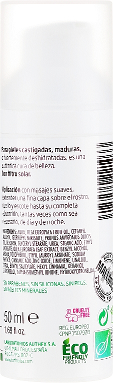 Feuchtigkeitsspendende Gesichtscreme - Tot Herba Crema Restructuring Cream of Olive Leaves — Bild N2