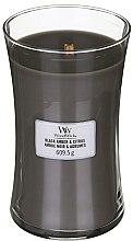 Düfte, Parfümerie und Kosmetik Duftkerze im Glas Black Amber & Citrus - WoodWick Hourglass Candle Black Amber & Citrus
