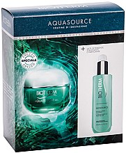Düfte, Parfümerie und Kosmetik Gesichtspflegeset - Biotherm Aquasource (Gesichtscreme 50ml + Gesichtsreinigungsmilch 200ml)