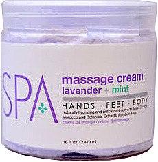 Körpermassagecreme mit Lavendel und Minze - BCL Spa Lavender + Mint Massage Cream — Bild N1