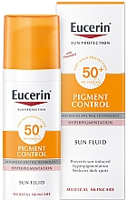 Düfte, Parfümerie und Kosmetik Sonnenschutzfluid für das Gesicht gegen Pigmentflecken SPF 50+ - Eucerin Sun Protection Pigment Control SPF50+