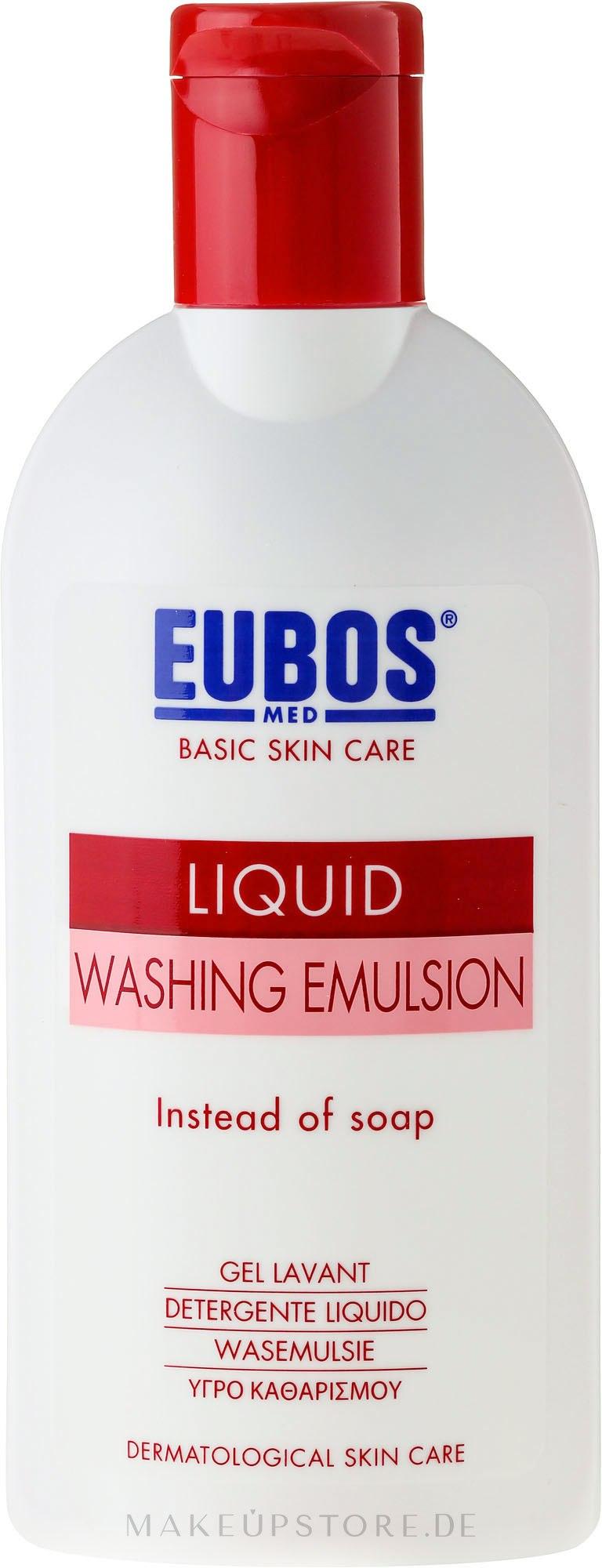 Flüssige Wasch-, Dusch- und Badeemulsion - Eubos Med Basic Skin Care Liquid Washing Emulsion Red — Bild 200 ml