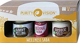 Düfte, Parfümerie und Kosmetik Körperpflegeset - Purity Vision Bio Wellness (Körperpeeling 110g + Körperbutter 120ml + Rosenwasser 50ml)