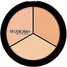 Düfte, Parfümerie und Kosmetik Highlighter Trio - Deborah Highlighter Trio Palette