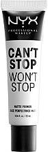 Düfte, Parfümerie und Kosmetik Mattierende Makeup Base - NYX Professional Makeup Can't Stop Won't Stop Matte Primer