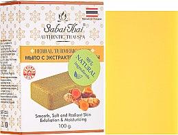 Düfte, Parfümerie und Kosmetik Kurkuma Peelingseife - Sabai Thai Herbal Turmeric Soap