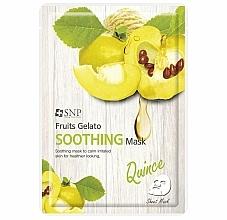 Düfte, Parfümerie und Kosmetik Beruhigende Tuchmaske für das Gesicht mit Quittenextrakt - SNP Fruits Gelato Soothing Mask