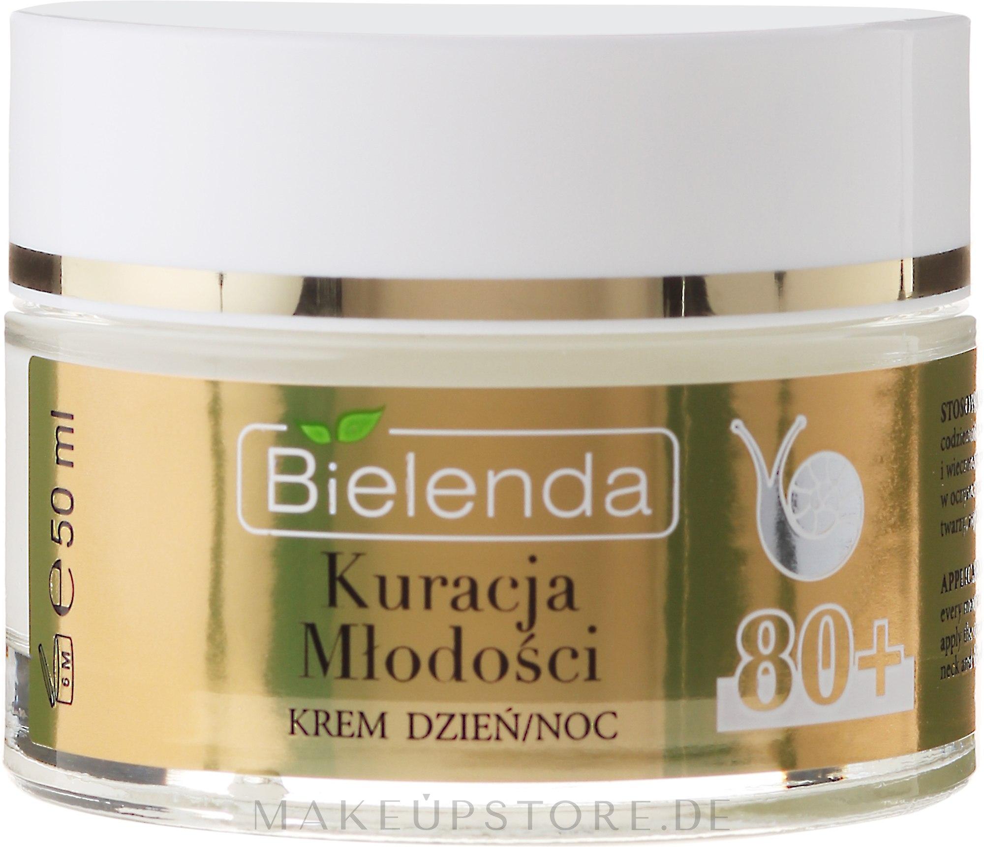 Reparierende Anti-Falten Gesichtscreme mit Schneckenschleim-Extrakt 80+ - Bielenda Kuracja Mlodosci Cream 80+ — Bild 50 ml