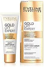Düfte, Parfümerie und Kosmetik Luxuriöses straffendes Creme-Konzentrat für Gesicht, Hals und Dekolleté mit Hyaluronsäure - Eveline Cosmetics Gold Lift Expert