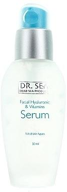 Anti-Aging Gesichtsserum mit Hyaluronsäure und Vitaminen - Dr. Sea Facial Hyaluronic & Vitamins Serum — Bild N1