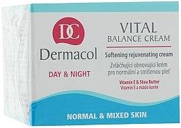 Düfte, Parfümerie und Kosmetik Aufweichende und verjüngende Gesichtscreme mit Sheabutter und Vitamin E - Dermacol Face Care Vital Balance