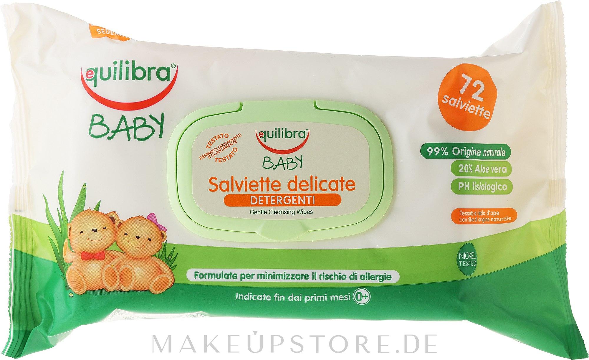 Feuchte Babypflegetücher - Equilibra Baby — Bild 72 St..
