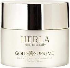 Düfte, Parfümerie und Kosmetik Anti-Falten Gesichscreme mit 24K Gold - Herla Gold Supreme 24K Gold Super Lift Anti-Wrinkle Global Cream