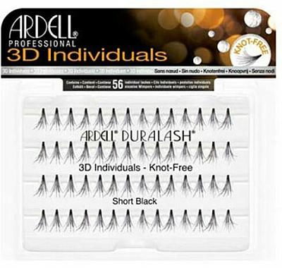 Wimpernbüschel-Set - Ardell Duralash 3D Individuals Short Black 75941 — Bild N1