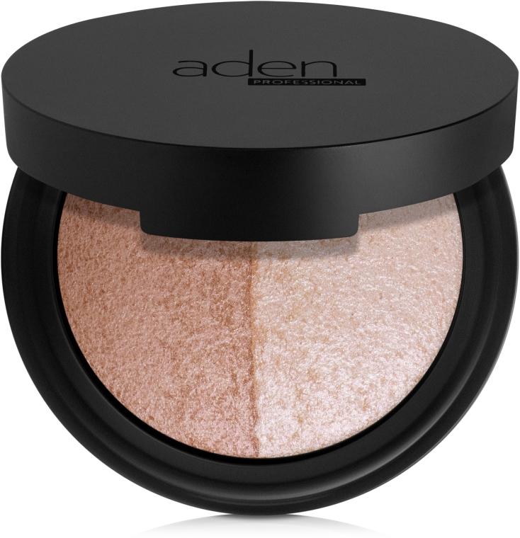 Highlighter & Bronzer - Aden Cosmetics Highlighter & Bronzer Duo — Bild N1