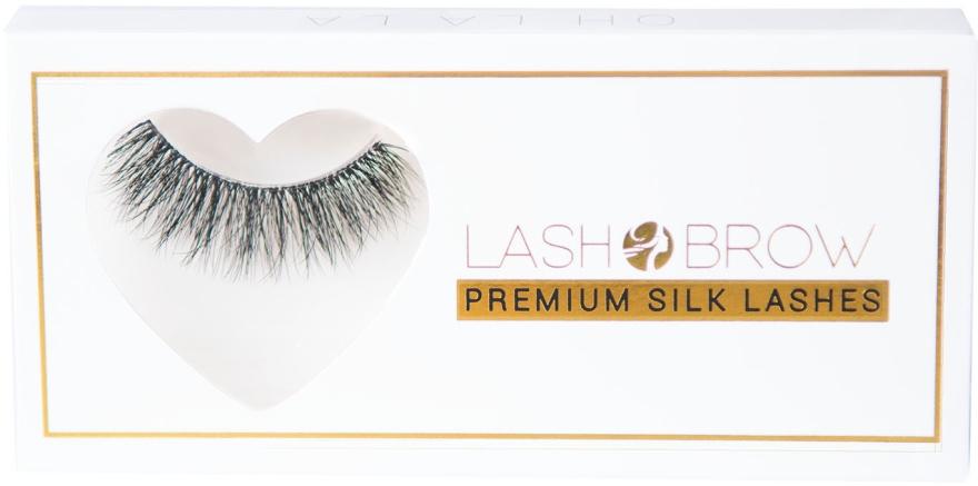 Künstliche Wimpern - Lash Brow Premium Silk Lashes Oh La La — Bild N1