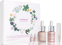 Düfte, Parfümerie und Kosmetik Make-up Set - Lumene Invisible Illumination (Highlighter 15ml + Gesichtsfluid 15ml + Lippenbalsam 2g)