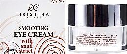 Düfte, Parfümerie und Kosmetik Glättende Augenkonturcreme mit Schneckenextrakt - Hristina Cosmetics Orient Snail Eye Cream