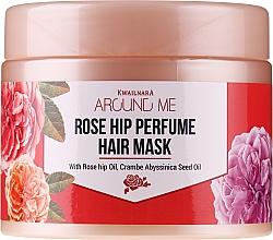 Haarmaske mit Hagebutte für strapaziertes Haar - Welcos Around Me Rose Hip Perfume Hair Mask — Bild N1