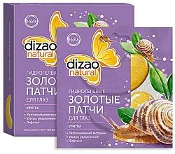 Düfte, Parfümerie und Kosmetik Hydrogel Gold-Patches für die Augen mit Schneckenextrakt - Dizao