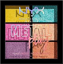 Düfte, Parfümerie und Kosmetik Make-up Palette für Augen, Körper und Gesicht - NYX Professional Makeup Metal Play Pressed Pigment Palette