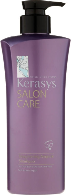 Glättendes Shampoo für alle Haartypen - KeraSys Salon Care Straightening Ampoule Shampoo