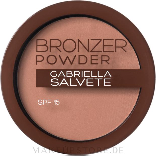 Bronzing-Puder mit Hyaluronsäure und LSF 15 - Gabriella Salvete Bronzer Powder SPF 15 — Bild 02