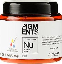 Düfte, Parfümerie und Kosmetik Nährende Haarmaske mit Vitamin A und E - Alfaparf Pigments Nutritive Mask