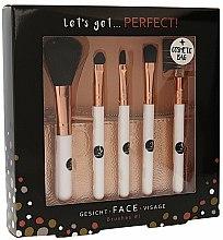 Düfte, Parfümerie und Kosmetik Make-up Pinselset 5-tlg. + Etui - Cosmetic 2K Let S Get Perfect Brushes Set
