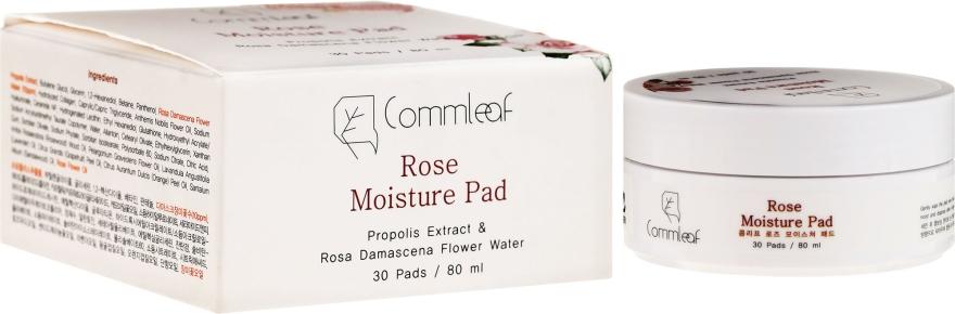 Feuchtigkeitsspendende Wattepads mit Damaszener Rosenwasser und Propolis - Commleaf Rose Moisture Pad