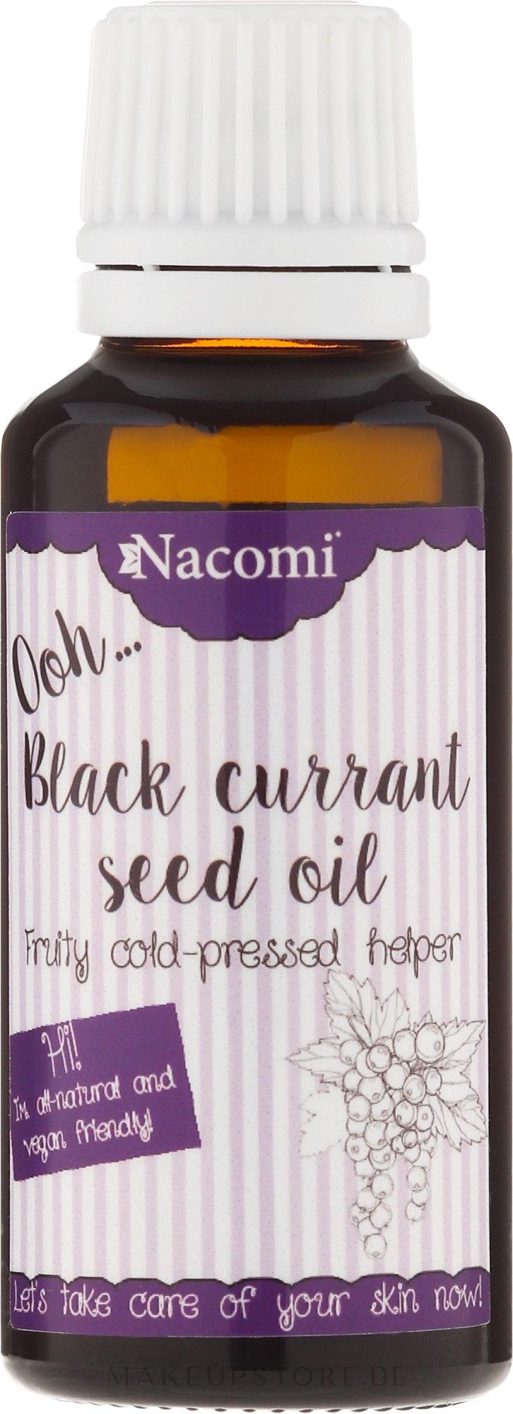 Körperöl mit schwarzer Johannisbeere für trockene und empfindlche Haut - Nacomi — Bild 30 ml