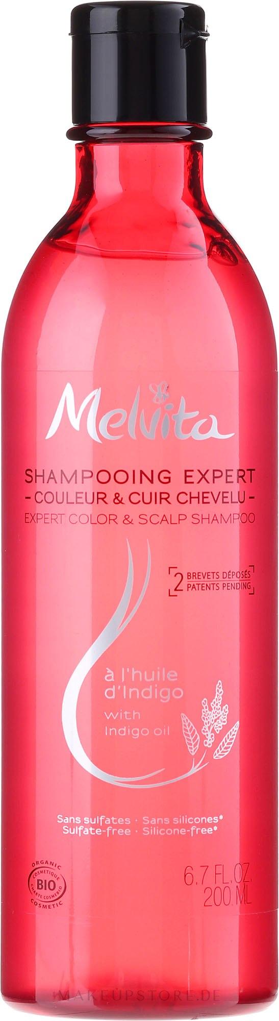Farbschutz-Shampoo für coloriertes Haar - Melvita Organic Expert Color Shampoo — Bild 200 ml