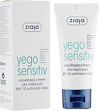 Düfte, Parfümerie und Kosmetik Männer Feuchtigkeitsspendende Gesichtscreme SPF 10 - Ziaja Yego Sensitiv Moisturising Cream For Men