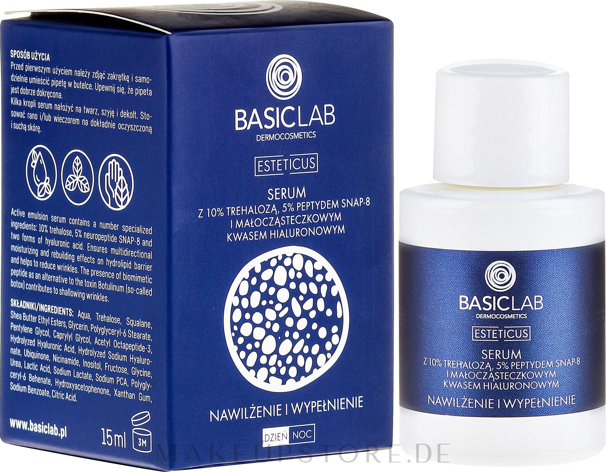 Gesichtsserum - BasicLab Dermocosmetics Esteticus — Bild 15 ml