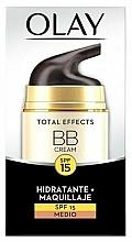 Düfte, Parfümerie und Kosmetik Feuchtigkeitsspendende BB Gesichtscreme SPF 15 - Olay Total Effects BB Cream SPF15