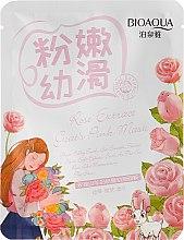 Düfte, Parfümerie und Kosmetik Aufhellende Gesichtsmaske mit Rosen- und Ziegenmilchextrakt - BioAqua Natural Extract Mask