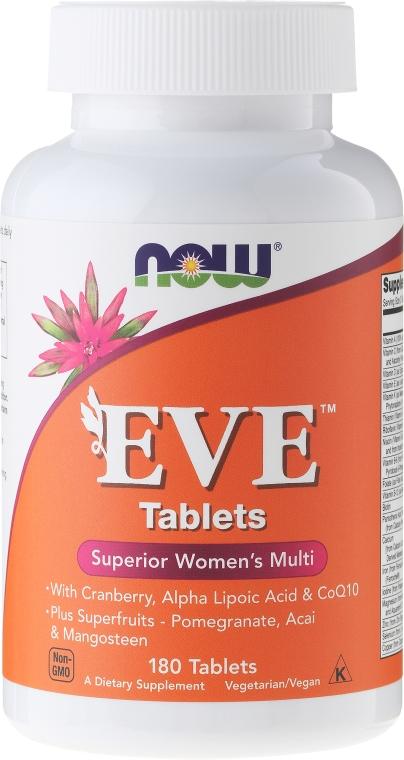 Nahrungsergänzungsmittel Eve für Frauen mit Preiselbeere, Alpha-Liponsäure und Coenzym Q10 - Now Foods Eve Womans Multi — Bild N3