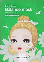 Düfte, Parfümerie und Kosmetik Ausgleichende Tuchmaske mit Kräutern - The Orchid Skin Orchid Flower Balance Mask