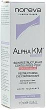 Düfte, Parfümerie und Kosmetik Restrukturierende Augenkonturcreme - Noreva Laboratoires Alpha KM Restructuring Treatment Eye Contour