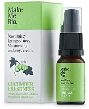 Düfte, Parfümerie und Kosmetik Feuchtigkeitsspendende Augencreme mit Vitamin E und Gurkenextrakt - Make Me BIO