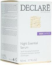 Düfte, Parfümerie und Kosmetik Regenerierendes Anti-Falten-Nachtserum - Declare Age Control Night Repair Essential Serum