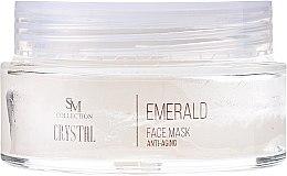 Regenerierende, festigende und feuchtigkeitsspendende Anti-Aging Gesichtsmaske mit Smaragd - Hristina Cosmetics SM Crystal Emerald Anti-Aging Face Mask — Bild N2
